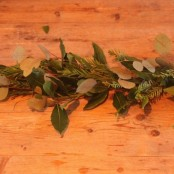 Foliage Coffin Garland